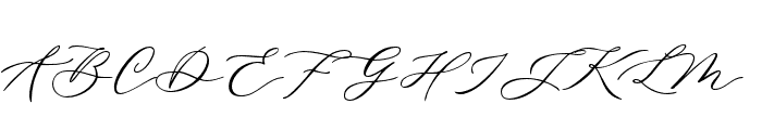 DellaBrian Font UPPERCASE