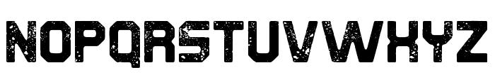 Derelict Rough Font UPPERCASE