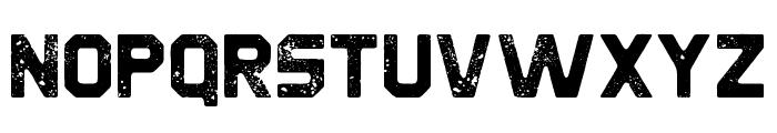 Derelict Rough Font LOWERCASE
