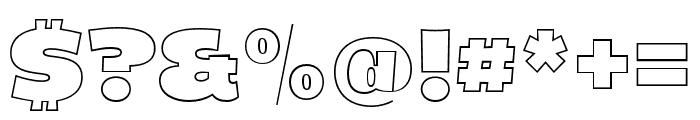 Dingos-DisplayOutlineBlack Font OTHER CHARS