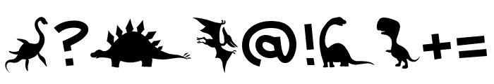 Dinosaur TM Font OTHER CHARS