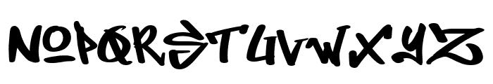 Dirty Lizard Font UPPERCASE