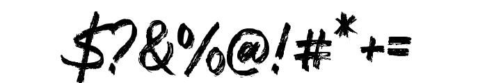 DiversalBrush Font OTHER CHARS