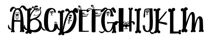 Dogmeal Figure Font UPPERCASE