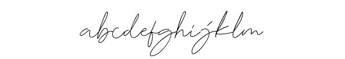 DorothyClark-Signature Font LOWERCASE