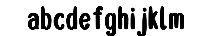 Double Smoothie Bold Font LOWERCASE