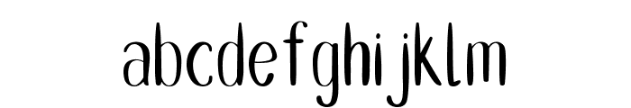 Double Smoothie Thin Regular Font LOWERCASE