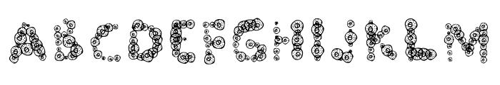 Doughnuts Font UPPERCASE