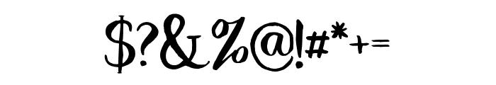 Dragonfly Regular Font OTHER CHARS