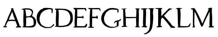 Dragonfly Regular Font LOWERCASE