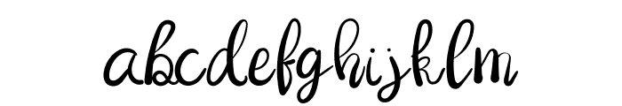 Dragonfly Font LOWERCASE