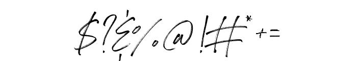 Drama Regular Font OTHER CHARS