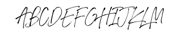 Drama Regular Font UPPERCASE