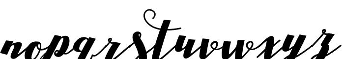 DrastScript Font LOWERCASE