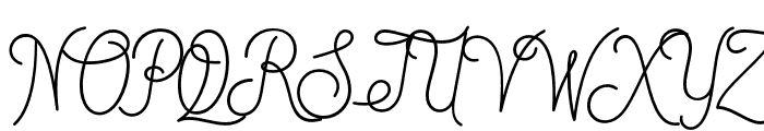 DreamCatchers Font UPPERCASE