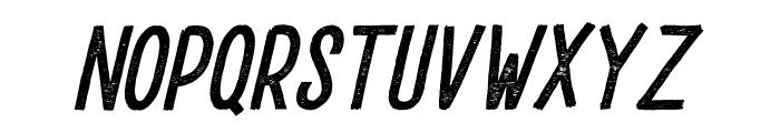 DrusticDialy-CondensedItalic Font UPPERCASE