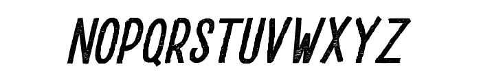 DrusticDialy-CondensedItalic Font LOWERCASE