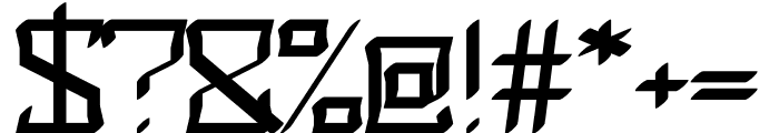 Dubius regular Font OTHER CHARS