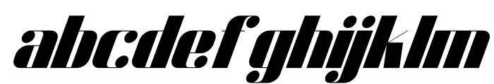 Dunford moore Italic Font LOWERCASE