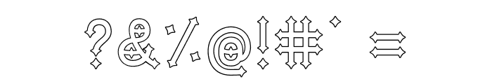 DymondSpeersOutline Font OTHER CHARS