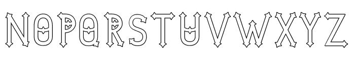 DymondSpeersOutline Font UPPERCASE
