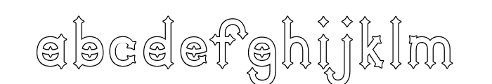 DymondSpeersOutline Font LOWERCASE