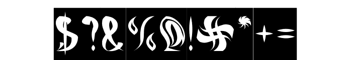 ETERNAL FLAME-Inverse Font OTHER CHARS