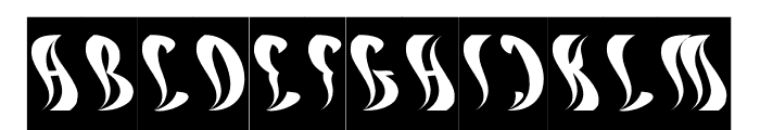ETERNAL FLAME-Inverse Font UPPERCASE
