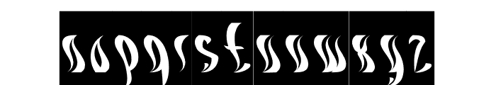 ETERNAL FLAME-Inverse Font LOWERCASE