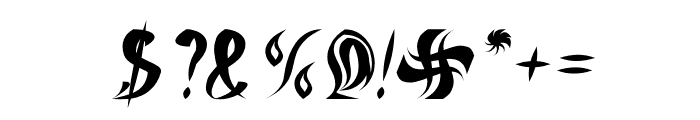 ETERNAL FLAME Italic Font OTHER CHARS