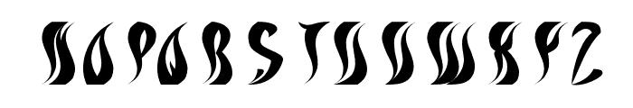 ETERNAL FLAME Italic Font UPPERCASE