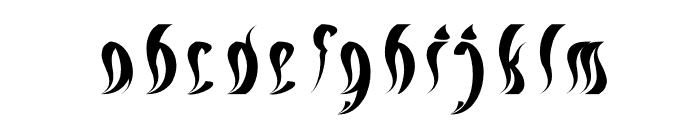 ETERNAL FLAME Italic Font LOWERCASE