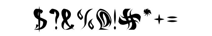ETERNAL FLAME Font OTHER CHARS