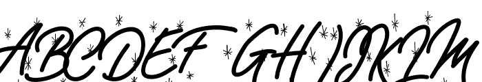 EXmasPandoro-WinterHolydays Font UPPERCASE