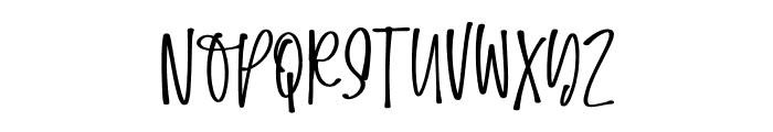 Easygoing Font LOWERCASE