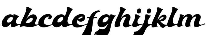 Ebullience Font LOWERCASE