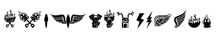EchomotorsDingbat Font LOWERCASE
