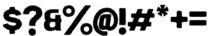 EchomotorsRough Font OTHER CHARS