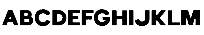 EchomotorsRough Font UPPERCASE