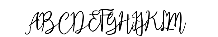 Eclipse Script Font UPPERCASE