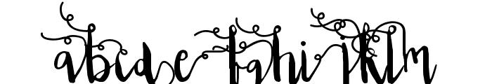 Edeline Swirl Font LOWERCASE