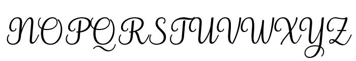 Elegans Slant Font UPPERCASE