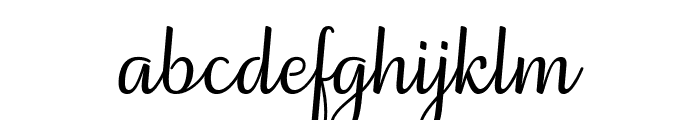 Elegans Slant Font LOWERCASE