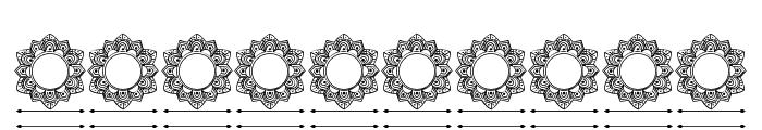 Elegant Mandala Monogram Line F Font OTHER CHARS