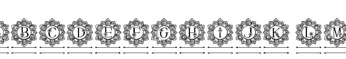 Elegant Mandala Monogram Line F Font UPPERCASE