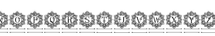 Elegant Mandala Monogram Line F Font LOWERCASE
