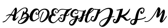 Elegant Roughness Font UPPERCASE