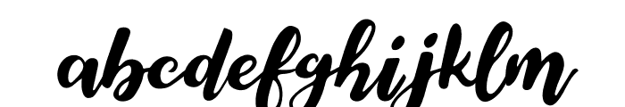 Elegant Roughness Font LOWERCASE