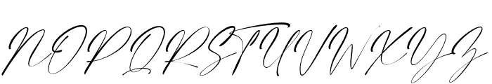 Elegant Signature Slant Font UPPERCASE