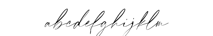 Elegant Signature Slant Font LOWERCASE